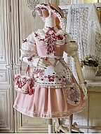 Strawberry Maria Lolita Dress Matching Scarf / Bag / Hat by Red Maria