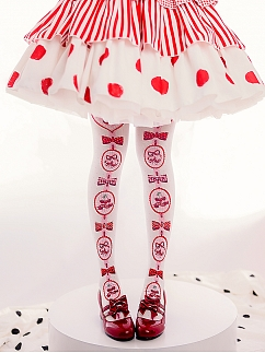 Cherry Pie Sweet Lolita Overknee Stockings by ROJI ROJI