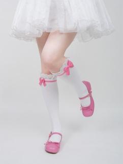 Doll Lolita Bowknot Underknee Stockings by ROJI ROJI