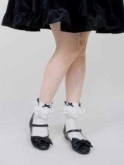 Aegean Sea Sweet Lolita Flounce Ankle Socks by ROJI ROJI