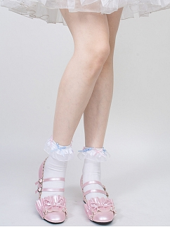 Gemini Sweet Lolita Flounce Ankle Socks by ROJI ROJI