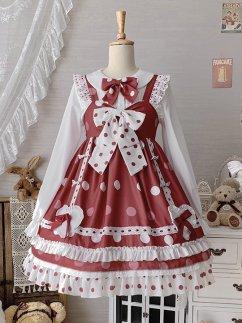 Polka Dot Berry Sweet Lolita Dress JSK by Sakurahime Lolita