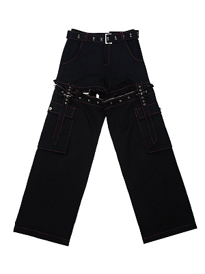 Black Removable Overalls by STRIKE A POSE