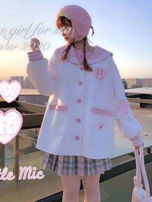 Little Rabbit Nurse Cute Navy Collar jk Uniform Kindergarten Style Top by Sankousan
