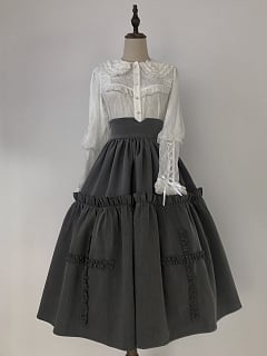 Chidorigafuchi High Waist Elegant Lolita Overall Skirt