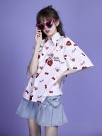 Secretly in College Light Blue Heart-shaped Pocket Denim Skirt by Sagi Dolls