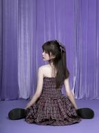 Maple Sugar Story Sweet Plaid Strapless Dress by Sagi Dolls
