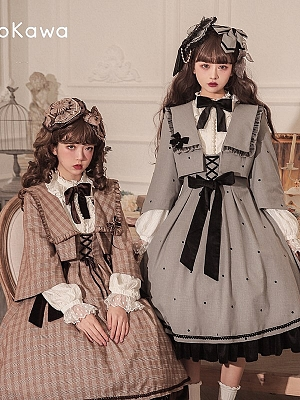 Geometry Variations Sweet Lolita Dress Matching Short Outerwear