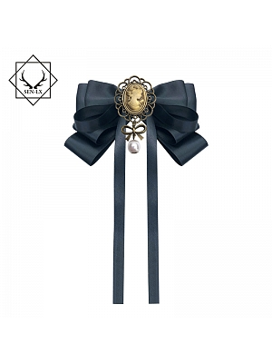 Palace Vintage Beauty Head Bow Tie Brooch by SENLX