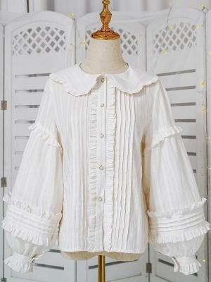 Cat Head Sweet Lolita Overall Dress Matching Shirt by Sugar Girl