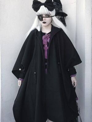 Dark Vampire Gothic Lolita Dress Matching Hooded Cape