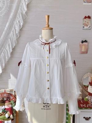 Elk Red Christmas Sweet Lolita Dress Matching Shirt