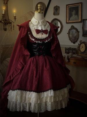 Little Red Riding Hood Sweet Lolita Dress Matching Girdle