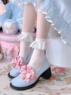 Sheep Puff Bowknot Laciness Lolita Socks