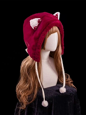 Strawberry Seed Sweet Lolita Matching Cat Ears Hat
