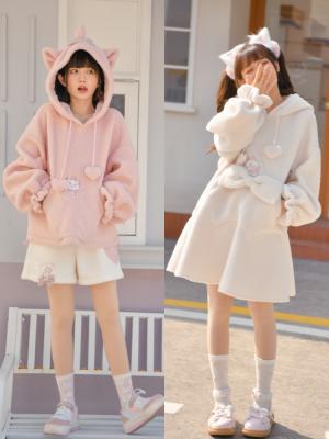 Disney Authorized Marie Cat Winter Long Sleeves Hoodie / Dress
