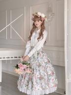 Afternoon Tea Lolita Skirt Matching Hat / Tie / Pearl Waistbelt
