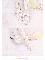 Brilliant Stars Bowknots Decotated Ankle Strap Shoes