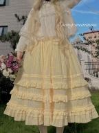Melaleuca Elastic Waist Plain Color Elegant Lolita SK by Spring Weariness