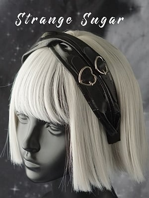 Handmade Subculture Y2K Heart-shaped PU Leather Buckle Decorative KC by Strange Sugar
