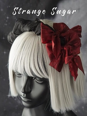 Handmade Gothic Lolita Wine Red Bowknot Decorative KC by Strange Sugar
