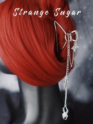 Handmade Y2K Metal Butterfly Spider Chain Catch Clip by Strange Sugar