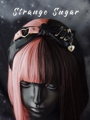 Handmade Black and Pink Bowknot Design KC by Stranger Sugar