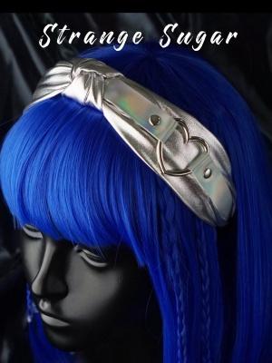 Handmade Y2K Metal Silver Buckle Cyberpunk KC
