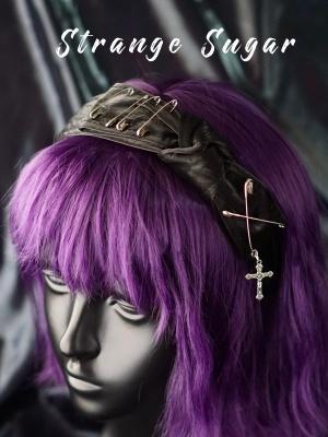 Handmade Gothic Purple Velvet Bowknot KC