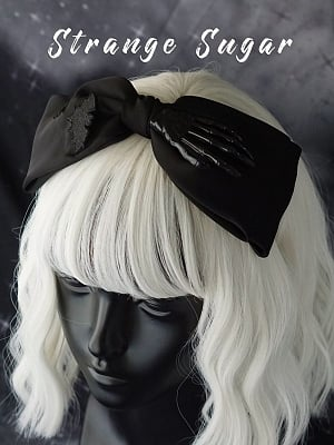 Handmade Gothic Skeleton Hand Double-layer Bowknot Decorative KC