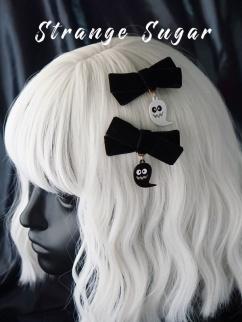 Handmade Halloween Gothic Ghost Bowknot Hairclip