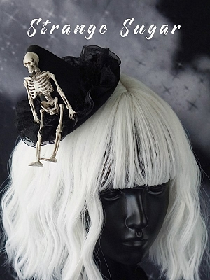 Handmade Gothic Skeleton Decorative Witch Hat Hairclip