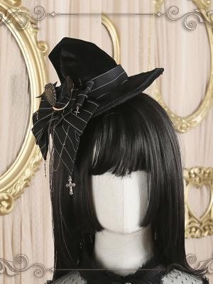 Little Witch Elegant Velvet Lolita Witch Hat by Star Box
