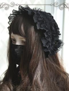 Black Swan Vintage Elegant Lolita Dress Matching Bonnet / Brooch