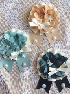 Emotional Poem Lolita Tricolor Hydrangea Pastoral Girl Fairy Brooch Badge