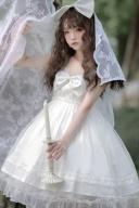 Rainbow Candy Big Bowknot front Empire Waist Lolita Dress JSK by Strawberry Pineapple