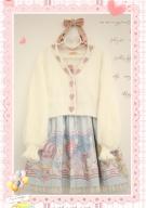 Be Careful V-neck Long Sleeves Short Knitted Lolita Cardigan