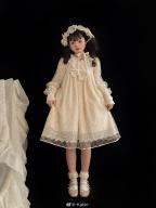 Icing Sugar Lullaby Round Neckline Long Sleeves Sweet Lolita Dress OP