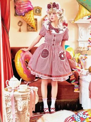 Retro Sweet Round Neckline Short Sleeves Lolita Dress OP