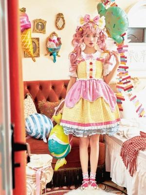 Retro Sweet Square Neckline Halter Lolita Dress JSK