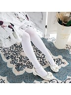 Lolita Velvet White/Black Thin Tights by Stellar Winds of the Universe