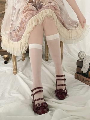 Beige Under Knee Lolita Stockings by Stellar Winds of the Universe