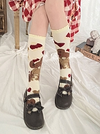 Sweet Teddy Lolita Stockings by Stellar Winds of the Universe