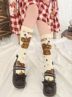 Charging Teddy Lolita Stockings by Stellar Winds of the Universe