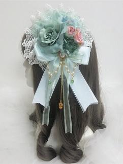 Handmade Lolita Gorgeous Cute Doule Layer Rose Bead Chain Hanamaru by Sweet Jelly Lolita