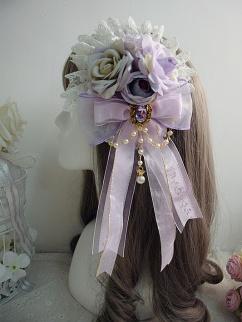 Handmade Sweet Lolita Tea Patry Rose Bead Chain Hanamaru by Sweet Jelly Lolita