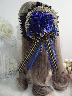 Handmade Elegant Gothic Lolita Gorgeous Rose Bead Chain Hanamaru by Sweet Jelly Lolita
