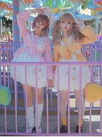 Corky & Bunny Sweet Lolita Doll / Badge Suit by To Alice