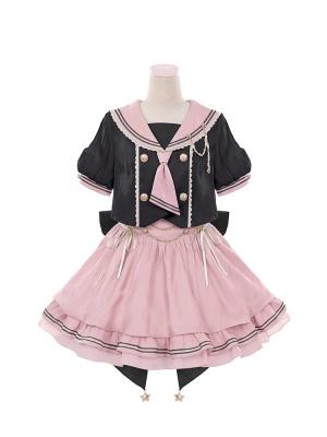 Star Girl Sailor Collar Top / Puffy Skirt Lolita Set by To Alice