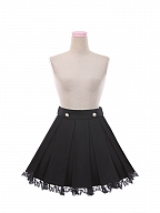 Halloween Earl Grey Tea Long Sleeves Shirt / Lapel Vest / Lace Hem Skirt Set